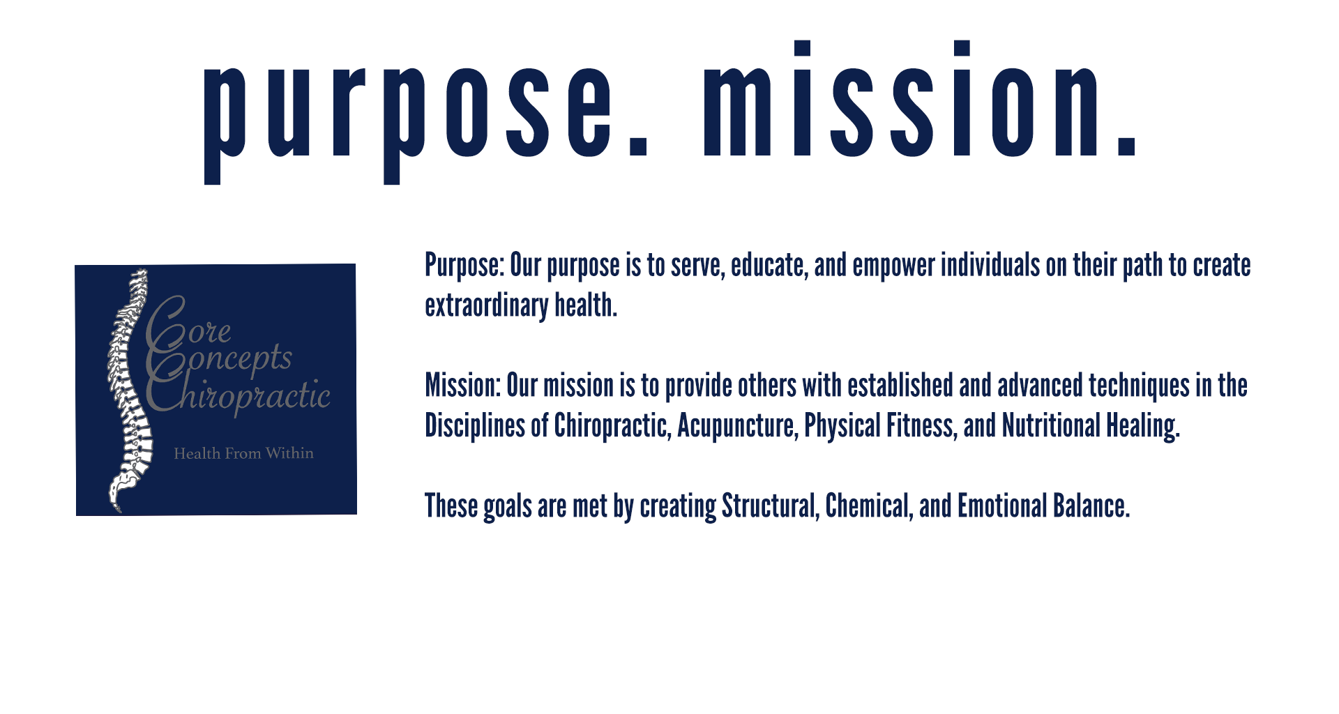 purpose mission